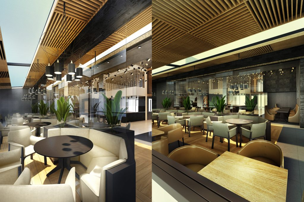 Проект за интериор на ресторант. restaurant