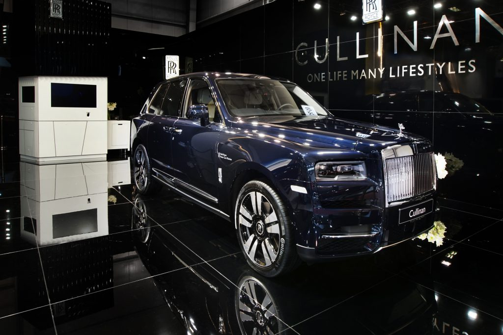 rolls royce exhibition booth