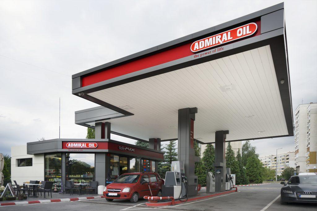 архитектурна творба бензиностанция admiral oil
